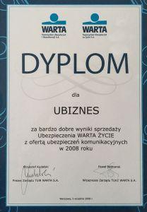 Dyplom 2008r.