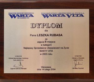 Dyplom 2003r.